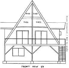 Proportion scale an a frame house blueprint a frame house blueprint image malvernweather Choice Image