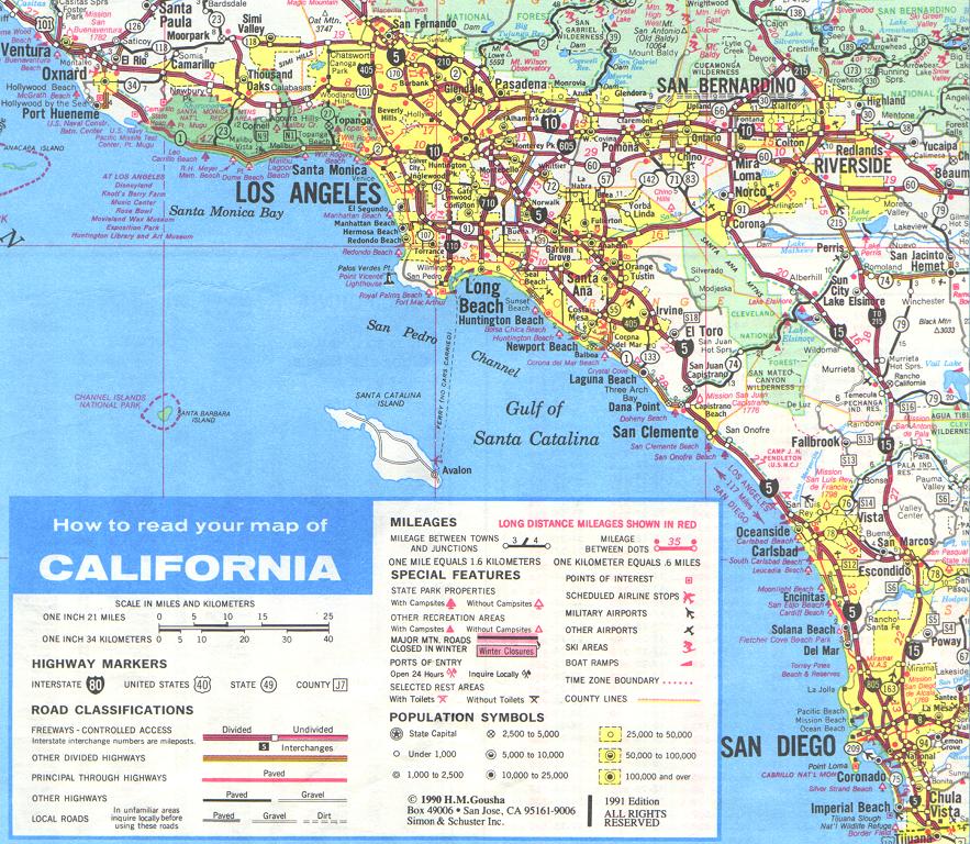 CA State Hwy Map Enlargement