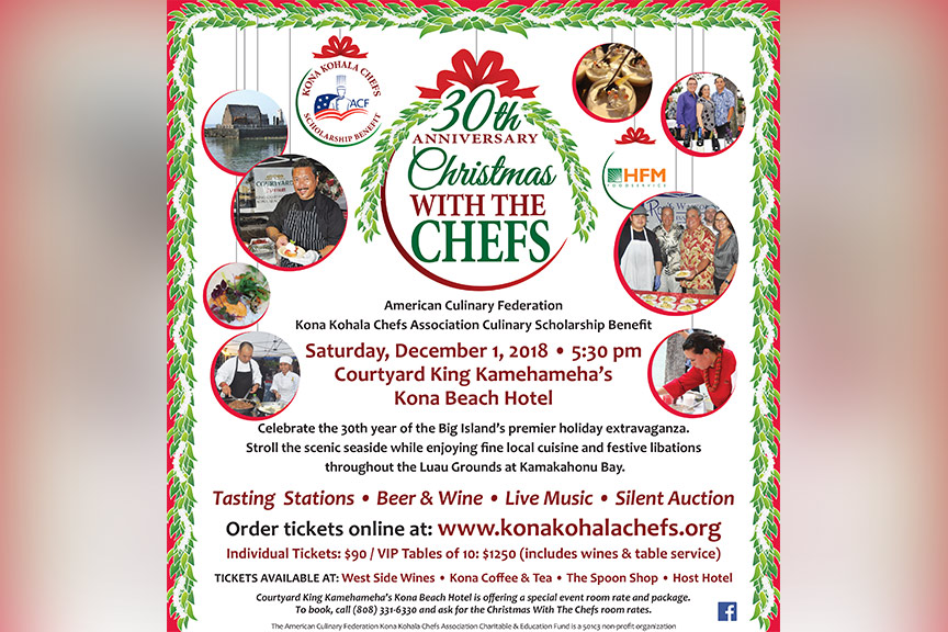 50th anniversary christmas with chefs poster