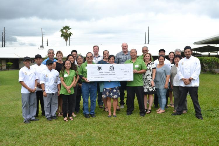 Japanese Chamber of Commerce and Industry of Hawai'i presented a check