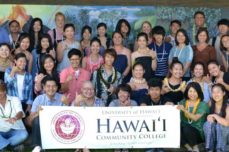 Students in the Hawai'i Community College Intensive English Program