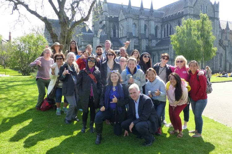 Hawai'i CC students in Ireland